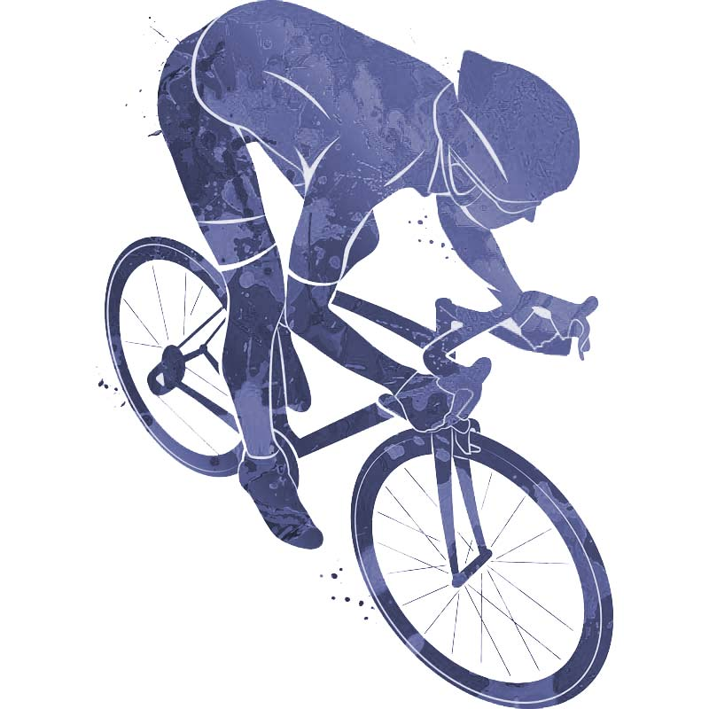 Illustration d'un cycliste